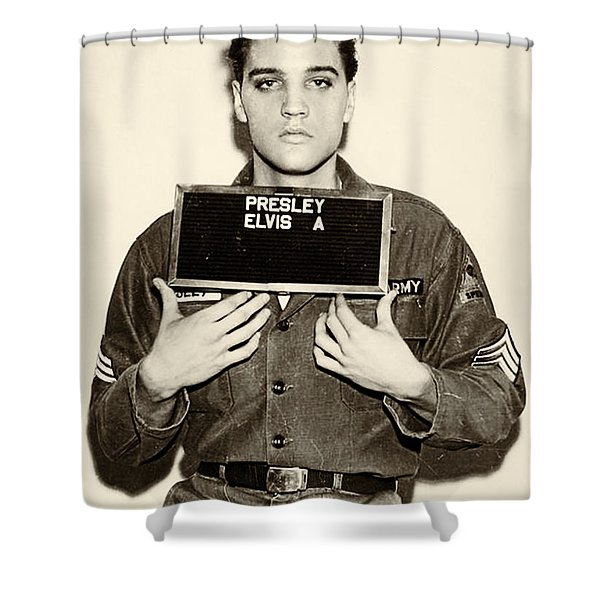 Elvis Presley - Mugshot Shower Curtain