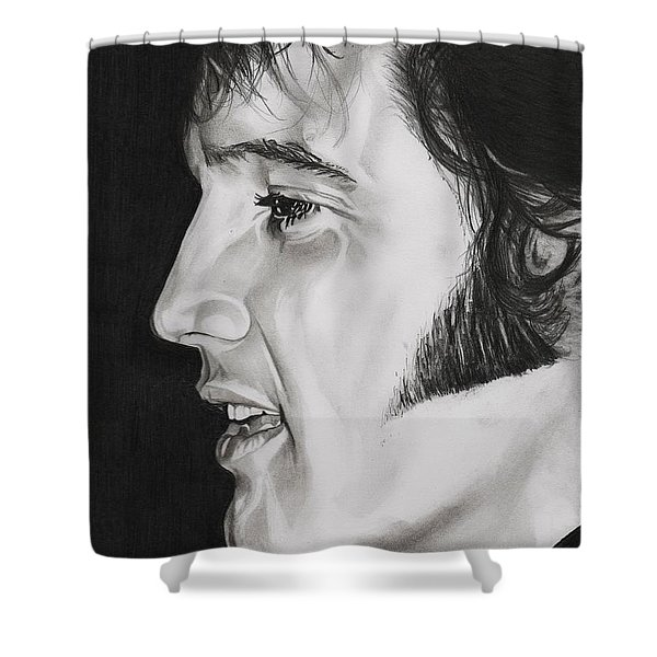 Elvis Presley  The King Shower Curtain