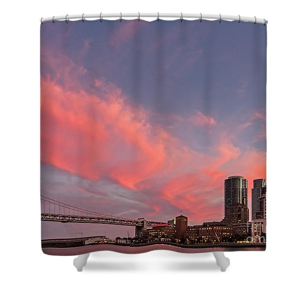 Embarcadero Sunset Shower Curtain