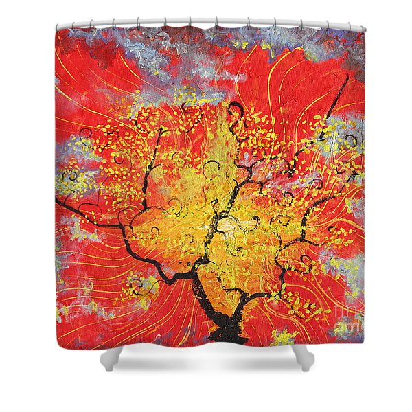 Embracing The Light Shower Curtain