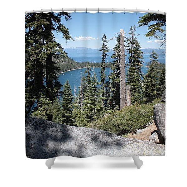 Emerald Bay Vista Shower Curtain