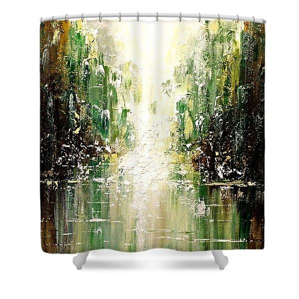 Emerald City Falls Shower Curtain