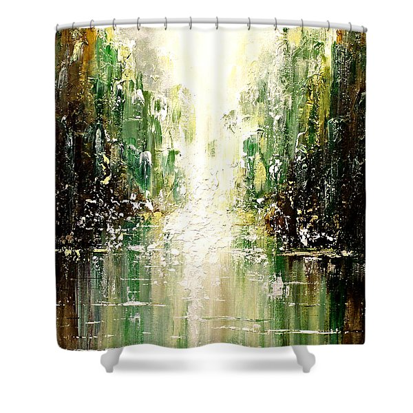 Emerald City Falls Shower Curtain