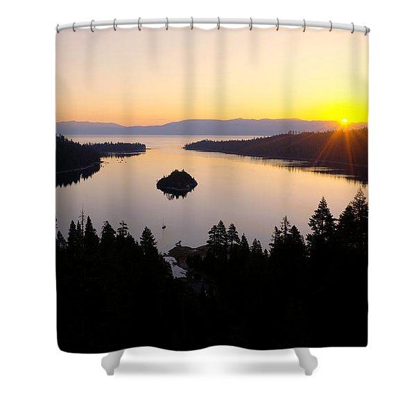 Emerald Dawn Shower Curtain