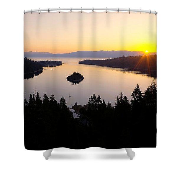Emerald Dawn Shower Curtain