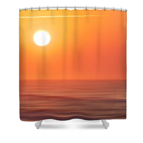Emerald Isle Sunrise Shower Curtain