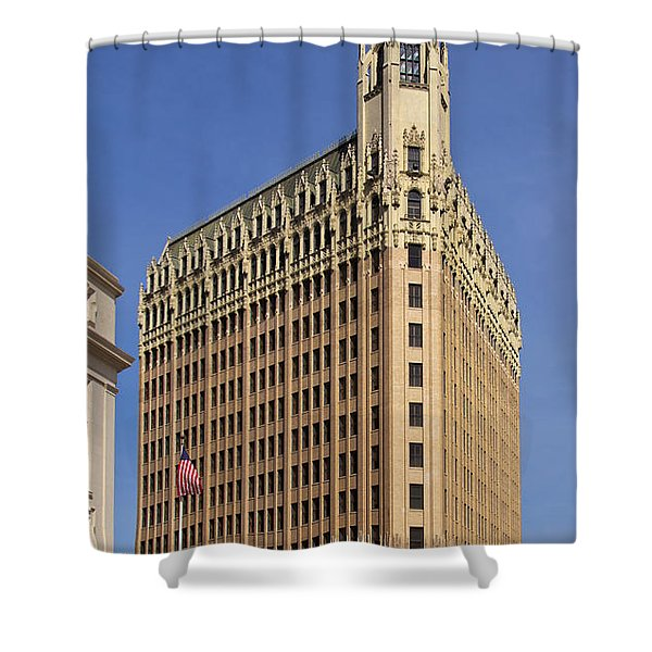 Shower Curtain featuring the photograph Emily Morgan Hotel by Jemmy Archer