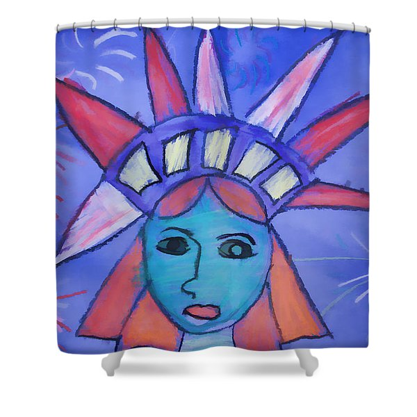 Emma's Lady Liberty Shower Curtain