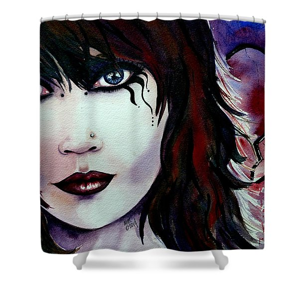 Emo Girl Shower Curtain