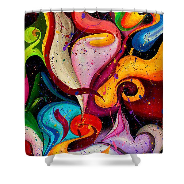 Modern Colorful Abstract  Shower Curtain
