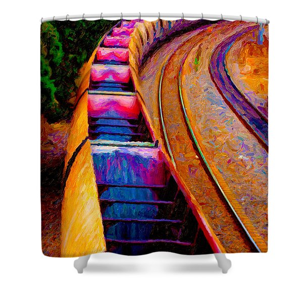 Empty Coal Hoppers Shower Curtain