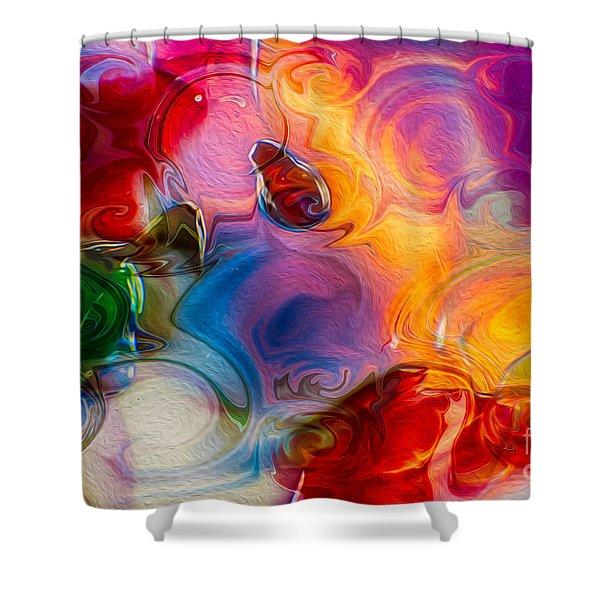 Enchanting Flames Shower Curtain