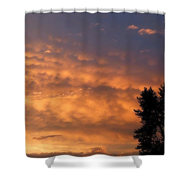 End Of Day Drama Shower Curtain