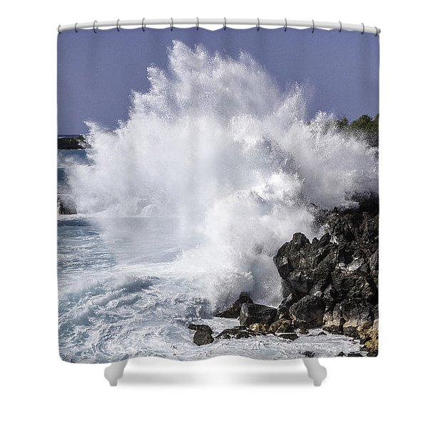 End Of The World Explosion Shower Curtain