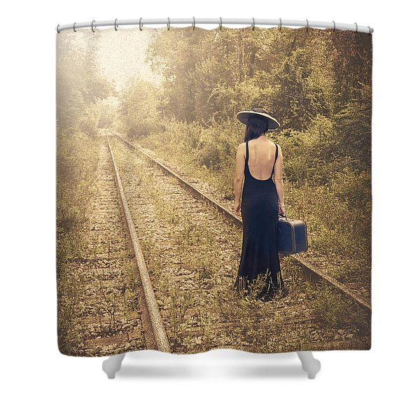 Engaged With Destiny Shower Curtain