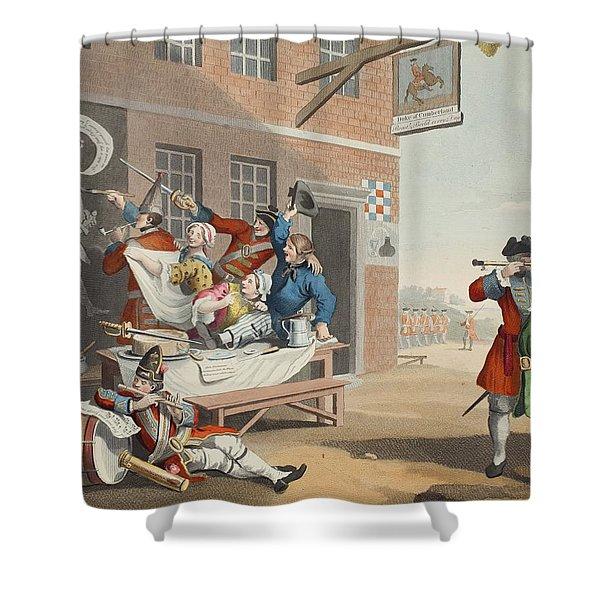 England, Illustration From Hogarth Shower Curtain