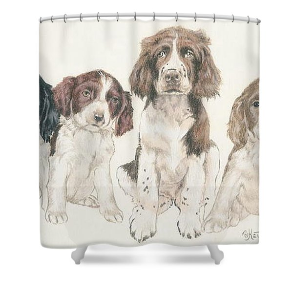 English Springer Spaniel Puppies Shower Curtain