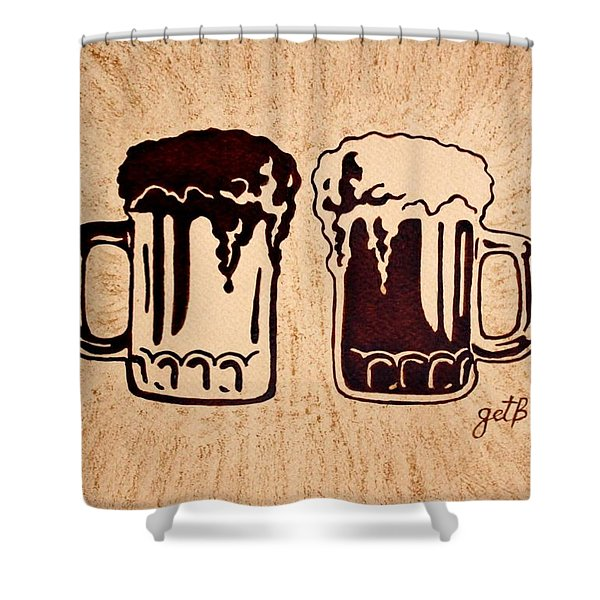 Enjoying Beer Shower Curtain