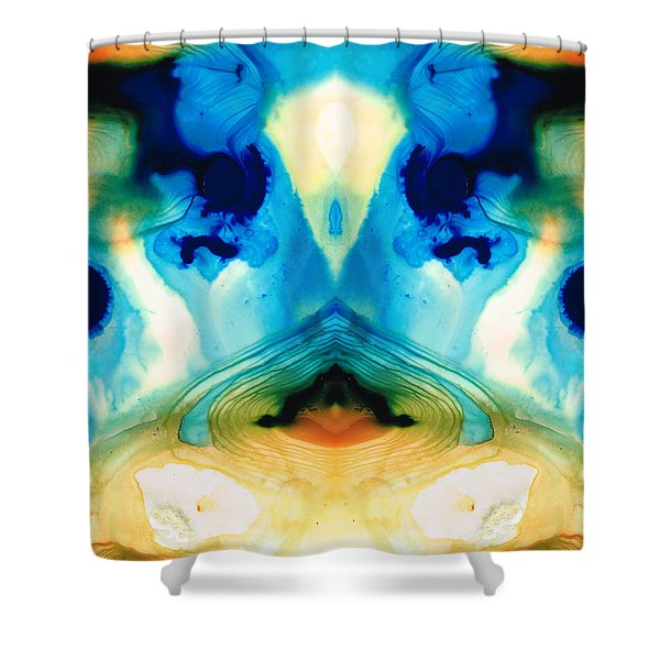 Enlightenment - Abstract Art By Sharon Cummings Shower Curtain