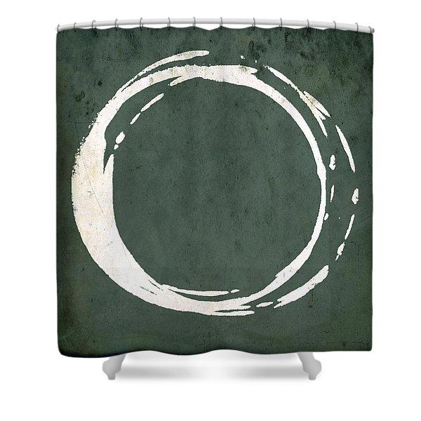 Enso No. 107 Green Shower Curtain
