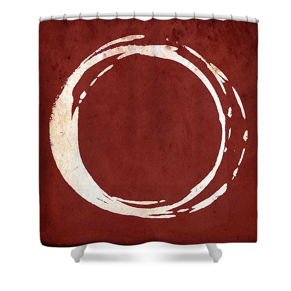 Enso No. 107 Red Shower Curtain