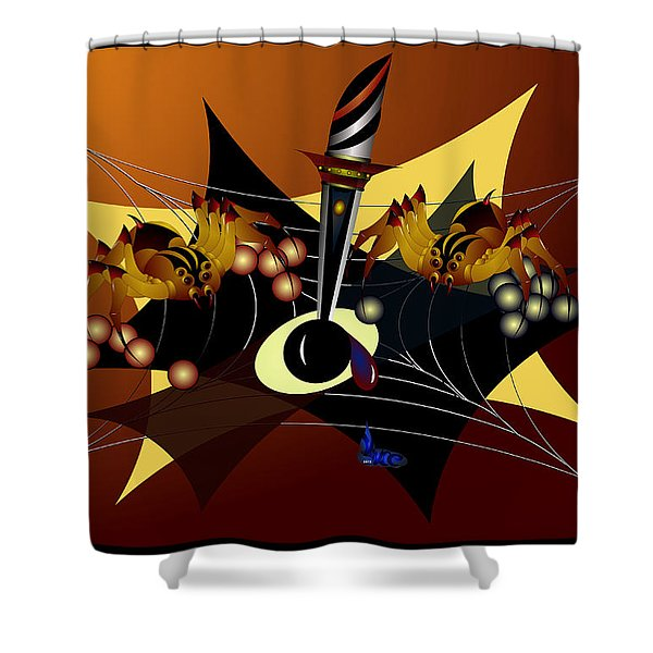Tensions Shower Curtain