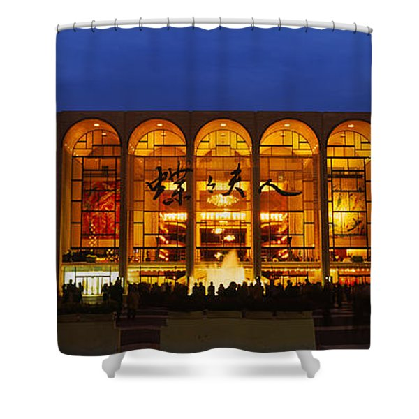 Entertainment Building Lit Up At Night Shower Curtain