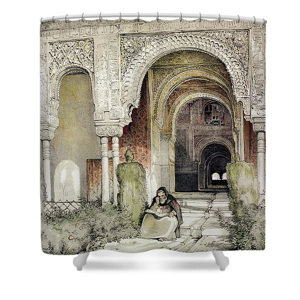 Entrance To The Hall Of The Two Sisters Shower Curtain