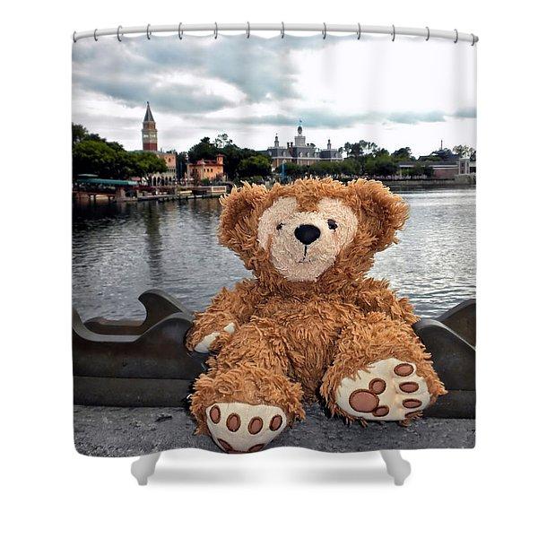 Epcot Bear Shower Curtain
