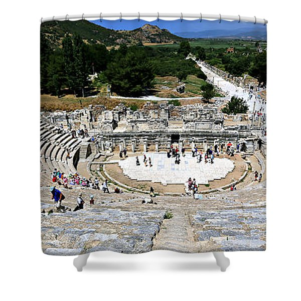 Theater Of Ephesus Shower Curtain