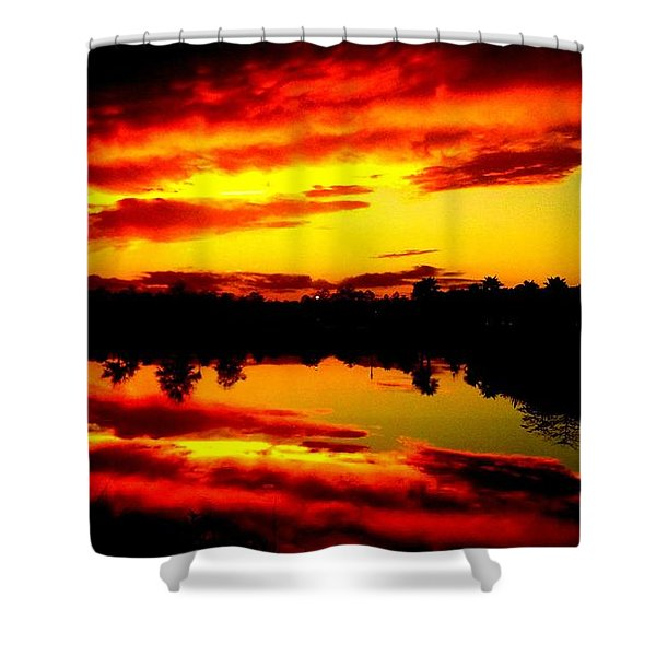 Epic Reflection Shower Curtain