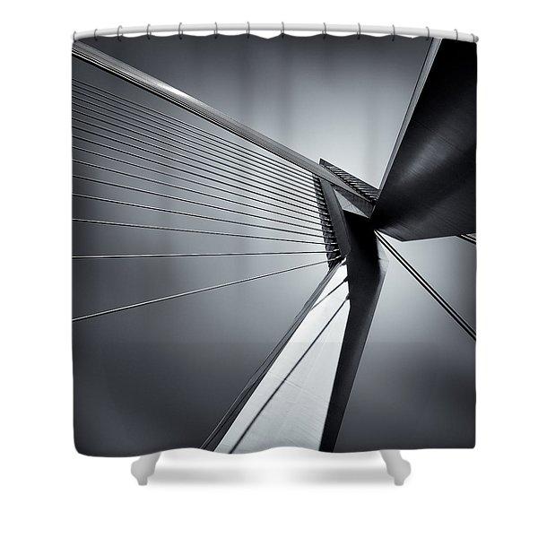 Erasmusbrug Shower Curtain