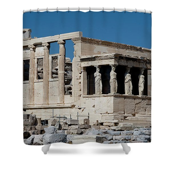 Erechtheion With The Porch Of Maidens Shower Curtain