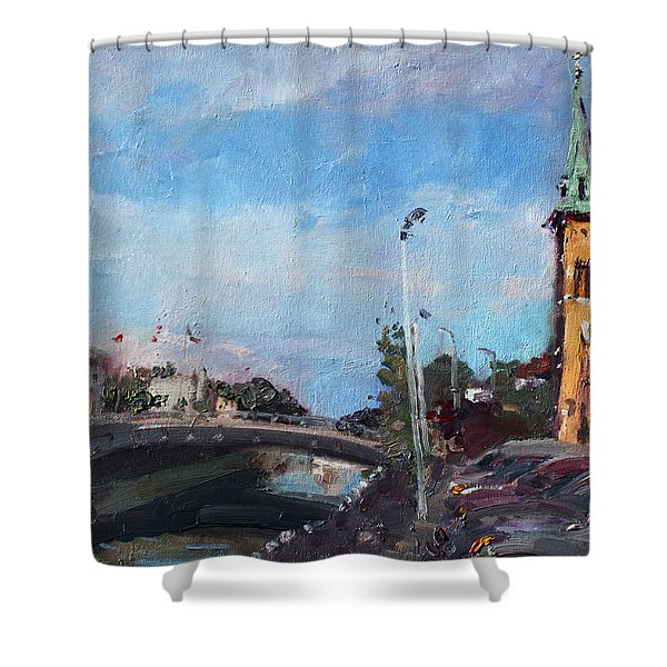 Erie Canal In Lockport Shower Curtain