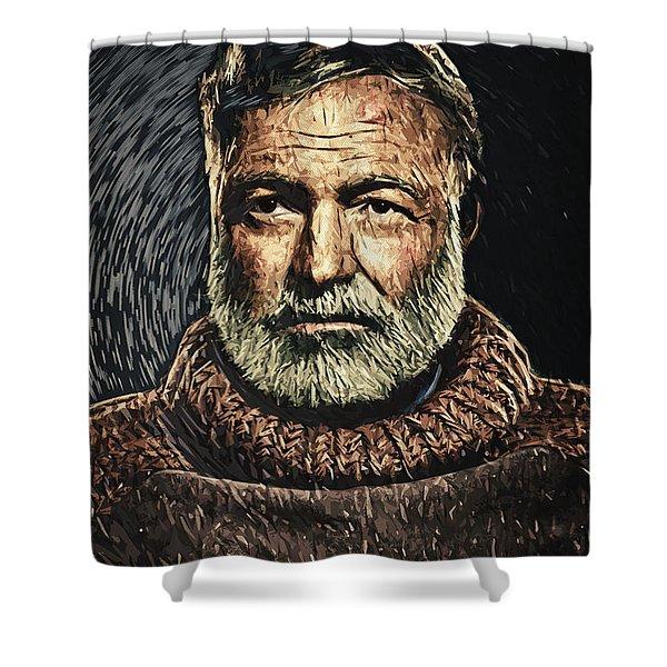 Ernest Hemingway Shower Curtain