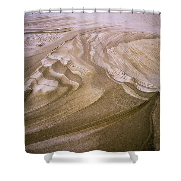 Erosion Reveals Layers Of Sand Shower Curtain