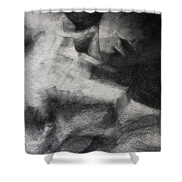 Erotic Sketchbook Page 1 Shower Curtain