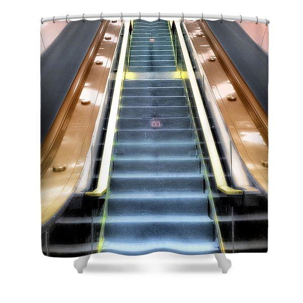 Escalator To Heaven Shower Curtain