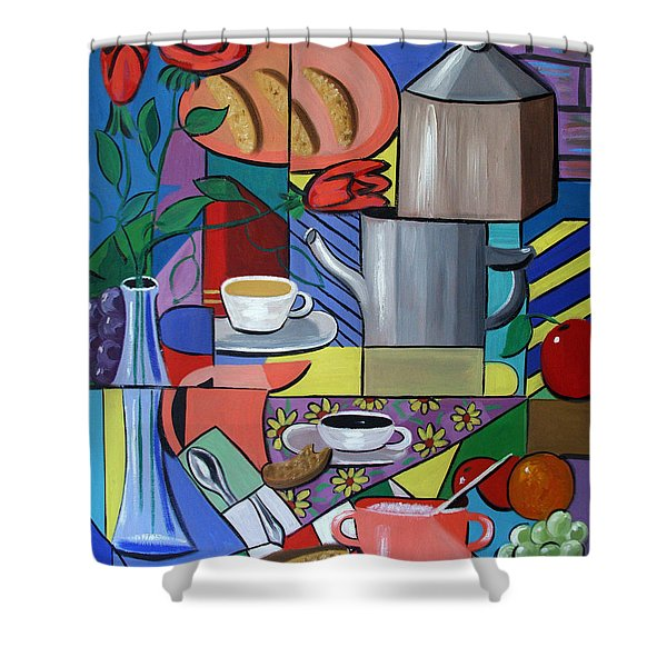Shower Curtain featuring the painting Espresso by Anthony Falbo