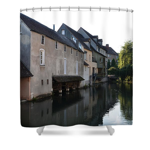 Eure River And Old Fulling Mills In Chartres Shower Curtain
