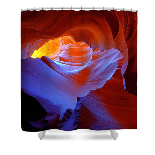 Evanescent Light Shower Curtain