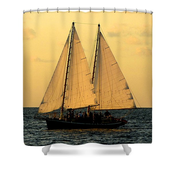 More Sails In Key West Shower Curtain