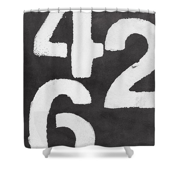 Even Numbers Shower Curtain