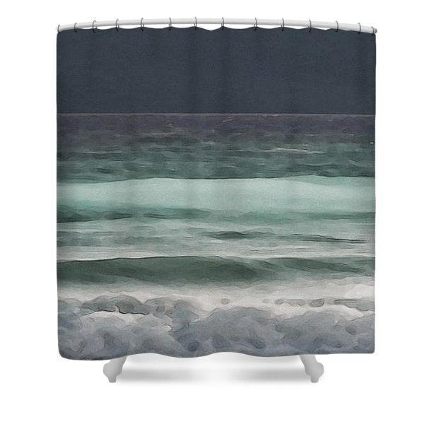 Even Tides Shower Curtain