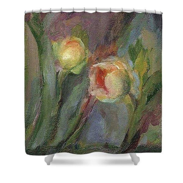 Evening Bloom Shower Curtain