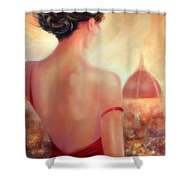 Evening In Florence Shower Curtain