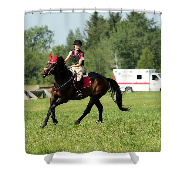 Eventing Fun Shower Curtain