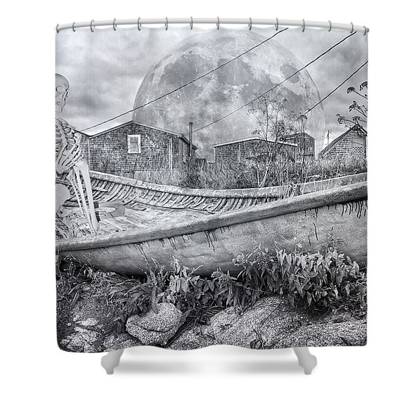 Ever Presence Bw Shower Curtain