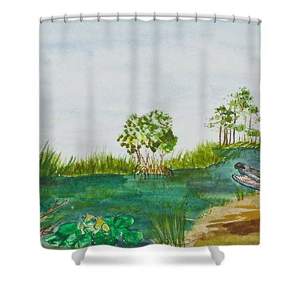 Everglades Critters Shower Curtain
