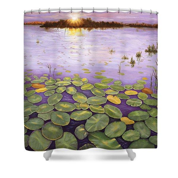 Everglades Evening Shower Curtain